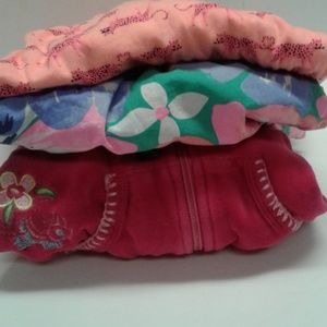 Girls 4T lot of 2 sun dresses 1 hoodie